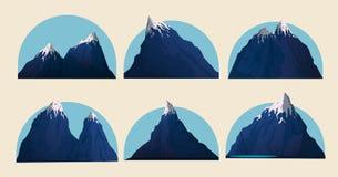 Bergvektorillustration royaltyfri illustrationer