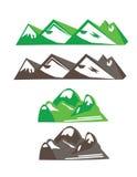 Bergvektoruppsättning Arkivfoton