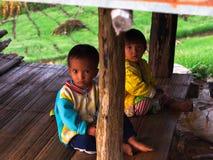 Bergvolk-Kinder Lizenzfreie Stockbilder