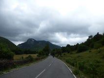 Bergweg in Albanië Royalty-vrije Stock Fotografie