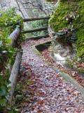 Bergweg met bescherming Stock Fotografie