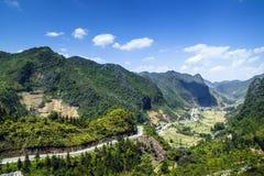 Bergweg in Vietnam Royalty-vrije Stock Afbeelding