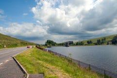Bergwegen rond Wales en de Brecon-Bakens Stock Foto