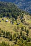 Bergweiland Krstenica in het nationale park van Triglav stock fotografie
