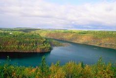 Bergwerk-Ansicht in den Himmel - Minnesota stockfoto