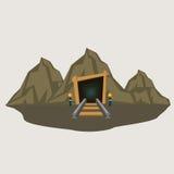 Bergwerk-Eingangs-Illustration Lizenzfreie Stockbilder