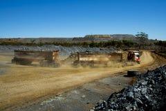 Bergwerk-Erz-Transport stockfoto
