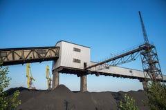 Bergwerk für Kohlenbergbau in Ukrain Stockbild
