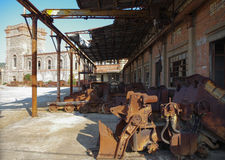 Bergwerk-Maschinerie Stockfoto
