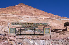 Bergwerke Cerros Rico in Potosi, Bolivien lizenzfreies stockbild