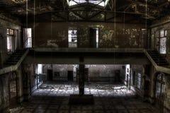 Bergwerkgruben-Gebäudehalle stockfoto