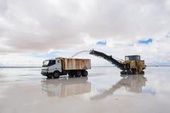 Bergwerksausrüstung des Salzes Stockfotografie
