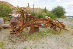 Bergwerksausrüstung an einem Museum im Freien in Yellowknife Lizenzfreies Stockbild