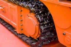 Bergwerksmaschinespur Stockfotos