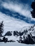 Bergwind stock foto