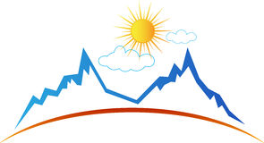 Bergzon vector illustratie