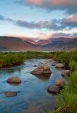 Bergzonsopgang bij het nationale Park van Rocky Mountain stock fotografie