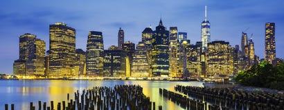 Berühmte Ansicht von New York City Stockbild