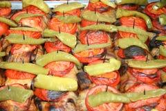 Berühmte türkische Mahlzeiten Stockbild