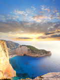 Berühmter Navagio Strand, Zakynthos, Griechenland Stockbilder