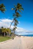 Berühmter Waikiki-Strand Stockfotos