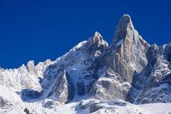 berühmtes peack Aiguille du Dru von europen Alpen Lizenzfreie Stockbilder