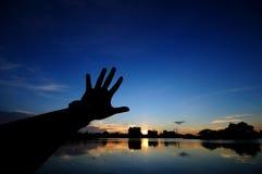 Berühren Sie den Himmel Stockbild