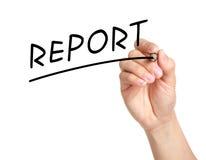 Bericht lizenzfreies stockfoto