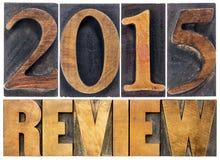 Bericht der 2015-jährigen Typografie Lizenzfreie Stockfotografie