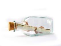Bericht in een fles Royalty-vrije Stock Foto's