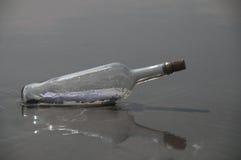 Bericht in een fles (dichte omhooggaand) Stock Fotografie
