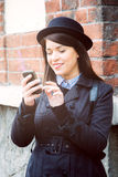 Bericht het texting Royalty-vrije Stock Foto