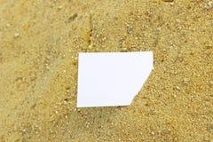 Bericht in het zand Royalty-vrije Stock Foto's