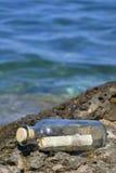 Bericht op de kust Royalty-vrije Stock Afbeeldingen