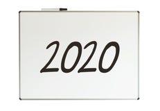 2020, bericht op whiteboard Royalty-vrije Stock Afbeelding