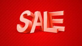 Bericht van de verkoop 3d tekst Stock Afbeelding
