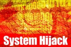 Bericht van de Waarschuwing van de Kaping van het systeem het Waakzame stock illustratie