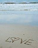 Bericht van liefde Stock Foto