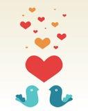 Bericht van liefde Stock Afbeelding