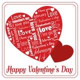 Bericht van witte liefde op speciale het hartdag van Valentine ` s royalty-vrije illustratie