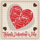 Bericht van witte liefde op speciale het hartdag van Valentine ` s vector illustratie