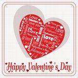 Bericht van witte liefde op speciale het hartdag van Valentine ` s stock illustratie