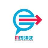 Bericht - vector het conceptenillustratie van het bedrijfsembleemmalplaatje Sociaal media creatief teken Sprekend pictogram Het e Royalty-vrije Stock Fotografie