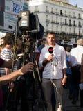 Berichten über die spanische Umdrehung Lizenzfreies Stockfoto