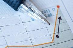 Berichten Sie über Papier-Investition Stockbilder