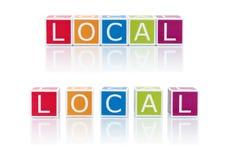 Berichten Sie über Themen mit Farbblöcken. Lokal. lizenzfreies stockbild