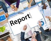 Berichten Sie Berichts-über resultierendes Informations-Artikel-Konzept lizenzfreies stockbild
