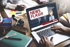 Berichts-Konzept der Blitznachrichten-Mitteilungs-letzten Nachrichten Stockfoto