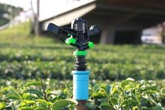 Berieselungsanlage für die Bewässerung Stockfotos