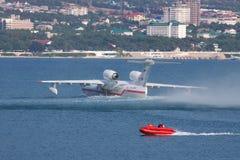 Beriev是200两栖飞机 图库摄影